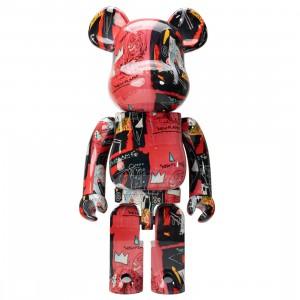 Medicom Andy Warhol x Jean-Michel Basquiat #1 1000% Bearbrick Figure (red)