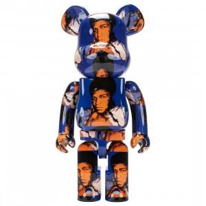 Medicom Andy Warhol Muhammad Ali 1000% Bearbrick Figure (blue)