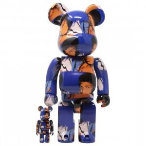 Medicom Andy Warhol Muhammad Ali 100% 400% Bearbrick Figure Set (blue)