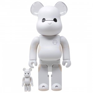 Medicom Baymax 100% 400% Bearbrick Figure Set (white)