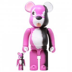 Medicom Breaking Bad Pink Bear 100% 400% Bearbrick Figure Set (pink)