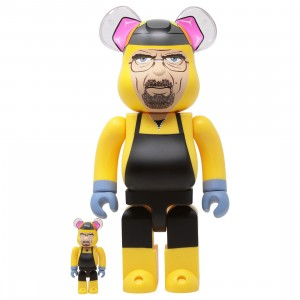 Medicom Breaking Bad Walter White 100% 400% Bearbrick Figure Set (yellow)