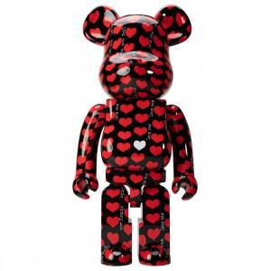 Medicom Black Heart 1000% Bearbrick Figure (red)
