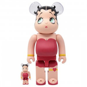 Medicom Betty Boop 100% 400% Bearbrick Figure Set (red)