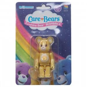 Medicom Care Bears Funshine Bear 100% Bearbrick Figure (yellow)
