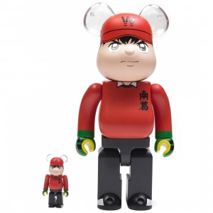 Medicom Captain Tsubasa Wakabayashi Genzo 100% 400% Bearbrick Figure Set (red)