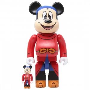 Medicom Disney Fantasia Mickey Mouse 100% 400% Bearbrick Figure Set (red)