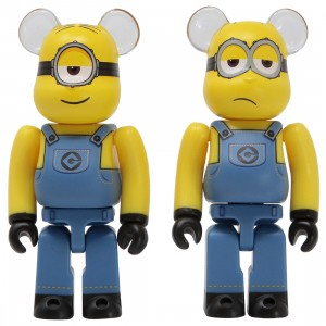 Medicom Despicable Me 3 Minion Stuart And Kevin 100% 2 Pack Bearbrick Figure Set (yellow)