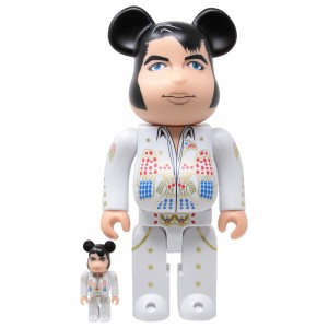 Medicom Elvis Presley 100% 400% Bearbrick Figure Set (white)