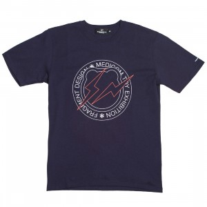 Medicom x Fragment Design Men Circle Logo Be@rtee Tee (navy)