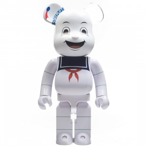 Medicom Ghostbusters Stay Puft Marshmallow Man 1000% Bearbrick Figure (white)