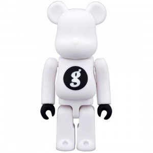 Medicom Goodenough White 100% Bearbrick Figure (white)