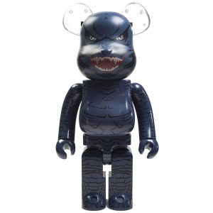 BAIT x Medicom x Godzilla King Of The Monsters 1000% Bearbrick Figure (blue / teal)
