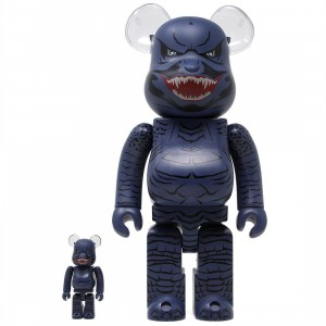 BAIT x Medicom x Godzilla King Of The Monsters 100% 400% Bearbrick Figure Set (blue / teal)