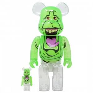 Medicom Ghostbusters Slimer Green Ghost 100% 400% Bearbrick Figure Set (green)