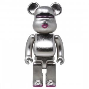 Medicom Hajime Sorayama 400% Kutani Bearbrick Figure (silver)