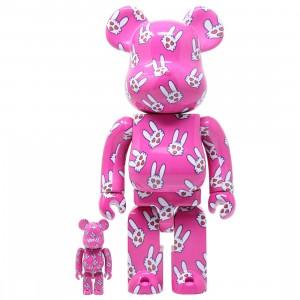 Medicom Hitohatausagi 100% 400% Bearbrick Figure Set (pink)