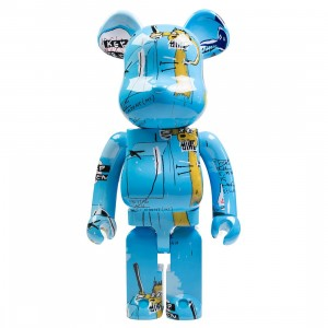Medicom Jean-Michel Basquiat #4 1000% Bearbrick Figure (blue)