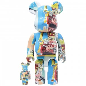Medicom Jean-Michel Basquiat #6 100% 400% Bearbrick Figure Set (multi)