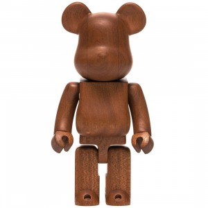 Medicom Karimoku Sapele 400% Bearbrick Figure (brown)