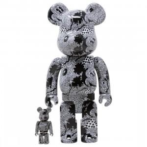 Medicom Keith Haring Disney Mickey Mouse 100% 400% Bearbrick Figure Set (black)