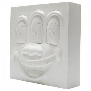 Medicom Keith Haring Three Eyed Smiling Face White Ver. Statue (white)
