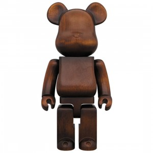 Medicom Karimoku Antique Furniture Model 1000% Bearbrick Figure (brown)