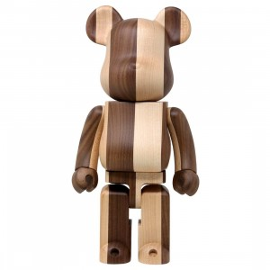 Medicom x Karimoku Half And Half 400% Bearbrick Figure (brown)