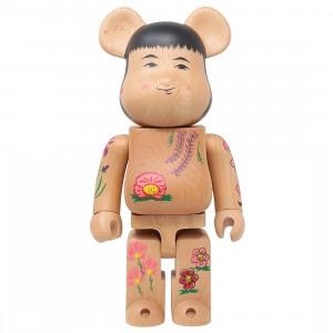 Medicom Karimoku Kokebrick #2 400% Bearbrick Figure (tan)