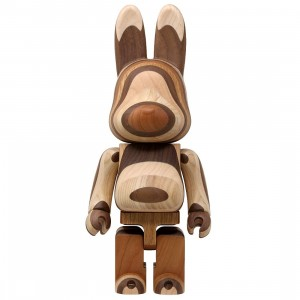Medicom x Karimoku Layered Wood 400% Rabbrick Figure (brown)