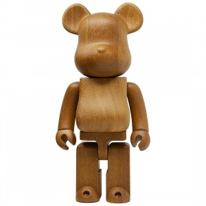 Medicom Karimoku Iroko 400% Bearbrick Figure (brown)