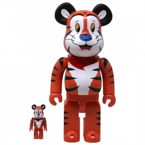 Medicom Kellogg's Tony The Tiger 100% 400% Bearbrick Figure Set (orange)