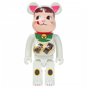 Medicom Lucky Cat Peko Chan GID 1000% Bearbrick Figure (white)