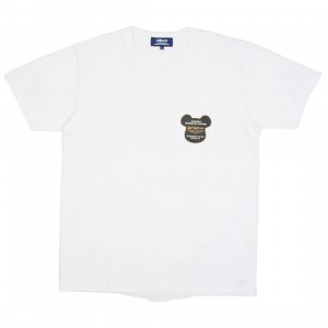 Medicom Men Lewis Leather Bearbrick Be@r Tee (white)