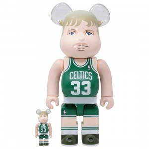 Medicom NBA Boston Celtics Larry Bird 100% 400% Bearbrick Figure Set (green)