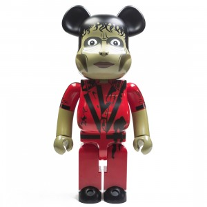 Medicom Michael Jackson Thriller Zombie 1000% Bearbrick Figure (red)
