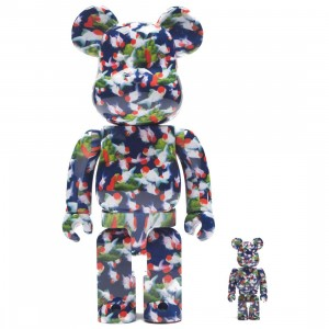 Medicom Mika Ninagawa Goldfish 100% 400% Bearbrick Figure Set (blue)