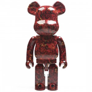 Medicom Mika Ninagawa Leather Rose 1000% Bearbrick Figure (red)