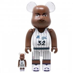 Medicom NBA Orlando Magic Shaquille O'Neal 100% 400% Bearbrick Figure Set (white)