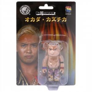 Medicom New Japan Pro-Wrestling Kazuchika Okada 100% Bearbrick Figure (tan)