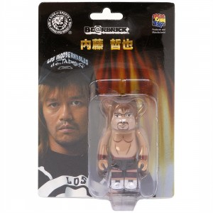 Medicom New Japan Pro-Wrestling Tetsuya Naito 100% Bearbrick Figure (tan)
