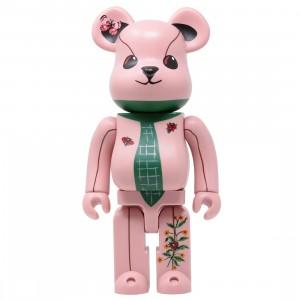 Medicom Nathalie Lete Ours a la Cravate 400% Bearbrick Figure (pink)