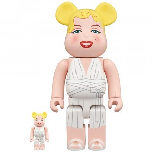 PREORDER - Medicom Marilyn Monroe 100% 400% Bearbrick Figure Set (white)