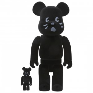 Medicom Nya Flocky Ver. 100% 400% Bearbrick Figure Set (black)