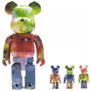 Medicom Pushead 3 Colors 100% 400% 4 Pcs Bearbrick Set (multi)
