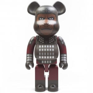 Medicom Planet of the Apes General Ursus 1000% Bearbrick Figure (gray)