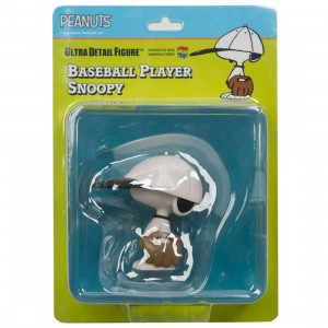 Medicom UDF Peanuts Series 8 Baseball Player Snoopy Ultra Detail Figure (white)