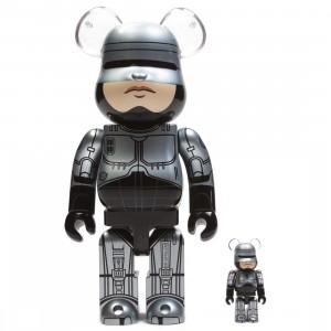Medicom Robocop 100% 400% Bearbrick Figure Set (silver)