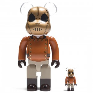 Medicom Rocketeer 100% 400% Bearbrick Figure Set (brown)