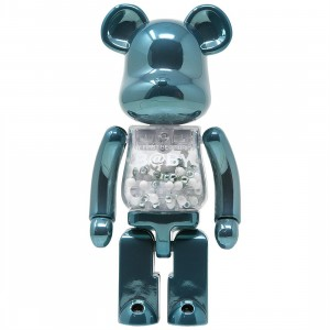 Medicom Super Alloyed My First Bearbrick Baby Turquoise 200% Bearbrick Figure (teal)